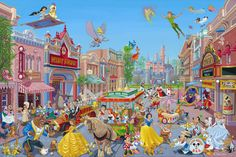 Mickey Mouse The Happiest Street on Earth Disneyland Main Street by Artist, Manny Hernandez
