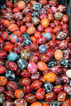Traditional Easter eggs in Kaunas, Lithuania