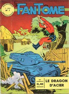Couverture de Le fantôme (1e Série - Aventures Américaines) -1- Le dragon d'acier