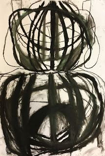 Beautiful student work that teaches symmetry.  Inspired by the work of Heather Hansen.