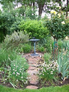 herbal garden focal point
