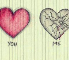 I want you to draw the broken heart but only the broken one and much larger for my birthday. Sad Drawings, Art Drawings Sketches, Pencil Drawings, Sad Sketches, Broken Heart Drawings, Heart Broken, Broken Hearted, Cool Heart Drawings, Broken Heart Tattoo
