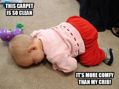 That is some clean carpet!