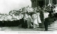 Service at cathedral for Navy - Kronstadt - 1913.