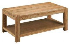 Oslo Retro Oak Coffee Table With Under Shelf