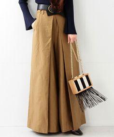 Culottes in khaki