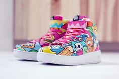 Color Doodle Sneaker by bobsmade