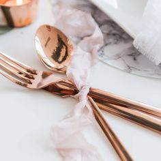 Copper cutlery ✨ @blovedblog