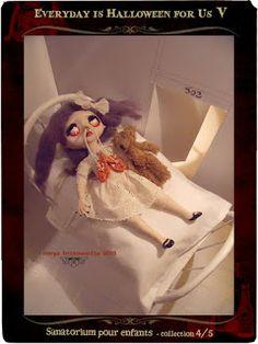 """Mïrya Trïstounetta pour """"Sanatorium pour enfants"""", notre quatrième et avant-dernière collection du collectif éphémère Everyday is Halloween for Us (cliquez sur l'image pour plus d'infos)"""