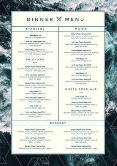 Black and White Elegant Functions and Events Pack (Multiple Pages - Graphic design inspirations - Restaurant Pizza Menu Design, Drink Menu Design, Cafe Menu Design, Restaurant Menu Template, Restaurant Menu Design, Restaurant Identity, Seafood Restaurant, Lunch Menu, Dinner Menu