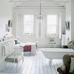 Lovely white floor