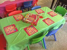 Shopkins bingo Shopkins party game table