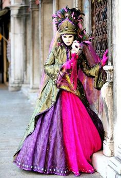 Perfect Costume Venitien, New Orleans Mardi Gras, Schmidt, Carnival Of Venice,  Carnival