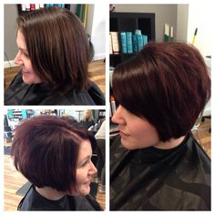 Short hair. Red. Before and after. #lindseyfrosthair