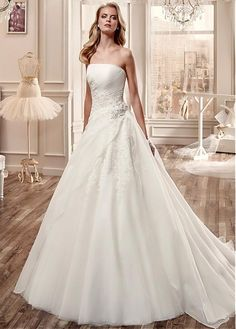 Lacy Look Ball Gown Wedding Dresses / White Wedding Dress