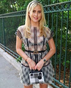 Valentina Ferragni, Short Sleeve Dresses, Dresses With Sleeves, Too Cool For School, Shirt Dress, T Shirt, Fashion Models, Dior, Punk