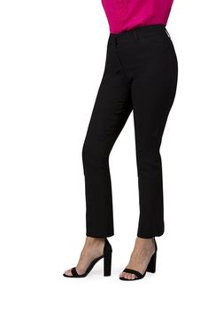 Fundamental Things Women's Pull On Comfort Slight Boot Cut Pant With Tummy Control
