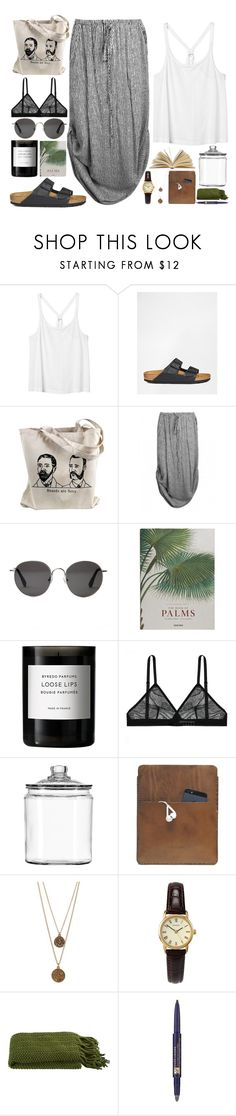 """""""I GOT MY BLOOMIN BRACES OFF I HAVE TEETH AGAIN ITS SO NICE"""" by smoothpeanutbutter ❤ liked on Polyvore featuring Monki, Birkenstock, The Row, Taschen, Byredo, Anchor Hocking, Palila, Bee Charming, Sekonda and Crate and Barrel"""