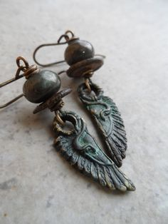 Like an Egyptian ... Bronze Metal Clay and Lampwork by juliethelen