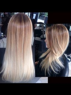 This color technique was done on someone who's hair was previously over processed, wanting to soften her look. This is not an ombré..