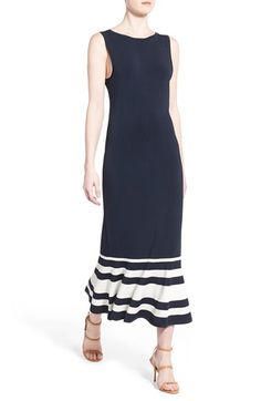 Olivia Palermo + Chelsea28 Stripe Knit Maxi Dress available at #Nordstrom