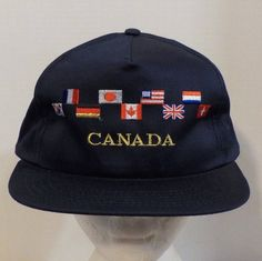 Canadian World Summit Baseball Truckers Hat Cap snapback by LouisandRileys on Etsy