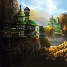 The Remote Monastery of the Dragon by Alayna.deviantart.com on @deviantART