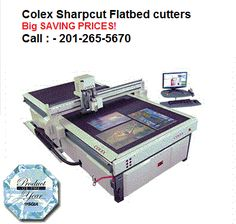 Colex Sharpcut Digital Flatbed Cutters One Machine, Endless possibilities Colex Finishing manufactures the most versatile Flatbed Cutter, known as the Sharpcut, which serves markets requiring automatic knife cutting, creasing and routing operations. When you add up all these assets; VERATILITY + SPEED + ACCURACY + AFFORDABLE PRICE there is only one outcome you can get… The Colex Sharpcut Call Us: - 201-265-5670 www.colex.com