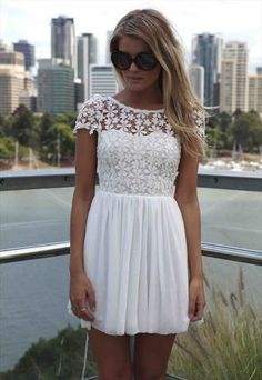 Kind of what is going to be my New Year's Eve dress || WHITE FLORAL EMBROIDERED TOP DRESS WITH TULLE BOTTOM, DRESS,