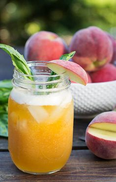 Yum! Peach-basil julep recipe. Just in time for the Kentucky Derby!