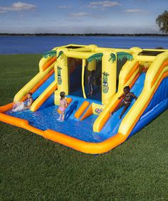 Look at this Blast Zone Rain Forest Rapids Inflatable Bouncer & Water Slide on #zulily today!