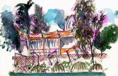 Rabiscos por Tula Moraes: #48 Sketchcrawl™ à Paris