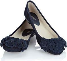 Afriene Flower Leather Ballerina Shoe Shoes