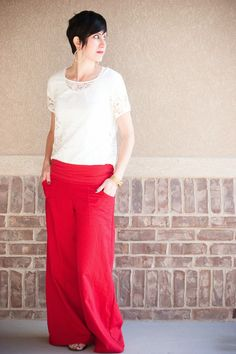 Super Wide Leg Linen Pants