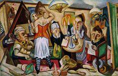 kaufen Gemälde'Porträts, Moma NY' von Max Beckmann - Kaufen Sie eine handgemalte Ölreproduktion , Kunstreproduktion, Ölgemäldereproduktionen, Kunst auf Leinwand, Kunstwerksreproduktion, Leinwand Ölgemälde Reproduktion Kunstwerk