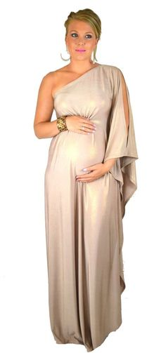 Ladies 'Golden Goddess' Maternity Kaftan Maxi Formal Dress Size 6-26 and Plus