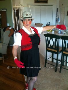Cool DIY Marionette Pinocchio Costume Idea... This website is the Pinterest of costumes