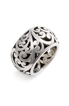 Lois Hill 'Cage' Cigar Band Ring available at Nordstrom Body Jewelry, Jewelry Rings, Jewelry Accessories, Jewelry Design, Cigar Band, Schmuck Design, Bling Bling, Cowgirl Bling, Sterling Silver Jewelry