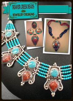 """Tibetan Art Jewelry - New Arrivals - Beautiful Masterpieces of Design from the Himalayan Mountains.  Exquisite jewelry from the top of the world...Tibet!  Genuine corals, turquoise copal and lapis necklaces, bracelets and earrings. Please tell Beverly that """"Marble Falls"""" from Facebook sent you! Beaver Creek Beads & Jewelry Designs - 210 Main Street - Marble Falls"""