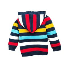 HeMa Island HMD Kids Boys Blue Stripe Pullover Sweater for Toddler 3 to 9 Years