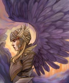 Valkyrie Norse Mythology ACEO Digital Art Miniature by bytheoakArt, $4.60