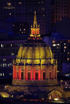 San Francisco City Hall...In 49er Red & Gold