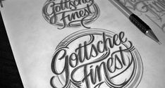 Handlettered Logotypes II by Mateusz Witczak, via Behance