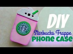 DIY: Starbucks Cotton Candy Frappe Phone Case | NO POLYMER CLAY | alphabetstory - YouTube