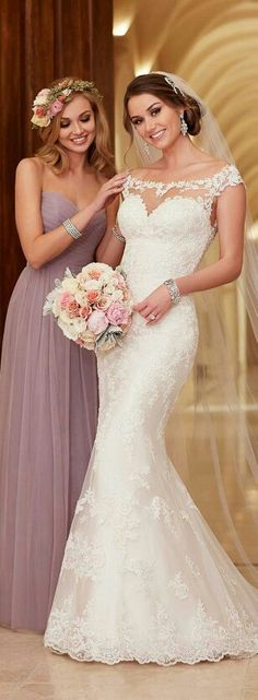 Bride and maid of honor picture