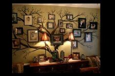 Family Tree Wall Painting | Family tree wall art | Home Decor