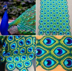 My first free crochet pattern, the French Mini Peacock Feather (you can read why it is called French in my previous post). My first free crochet pattern, the French Mini Peacock Feather (you can read why it is called Motifs Afghans, Crochet Motifs, Afghan Patterns, Crochet Squares, Crochet Stitches, Knitting Patterns, Crochet Patterns, Crochet Afghans, Crochet Blankets