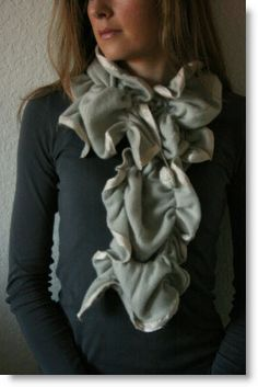 Cashmere sweater scarf. I need to make this now!