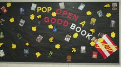 Pop open a good book //  Library Display - Bulletin Board // Theme/s - Movie