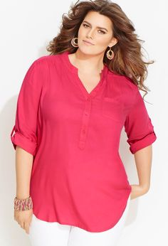 Old Navy Women's Uniform Pique Polo Crowning Achievement Size XXL Tunic Blouse, Tunic Tops, Look Plus Size, Modelos Plus Size, Mode Plus, Professional Wardrobe, Plus Size Kleidung, Sheego, Junior